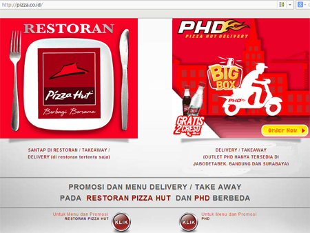 pizza hut dan pizza hut delivery
