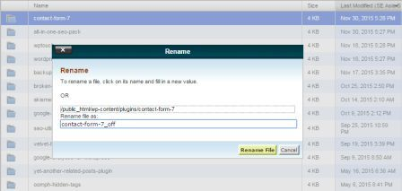 rename off contact form 7