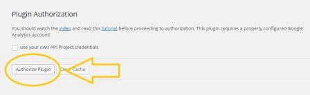 authorize plugin google analytics